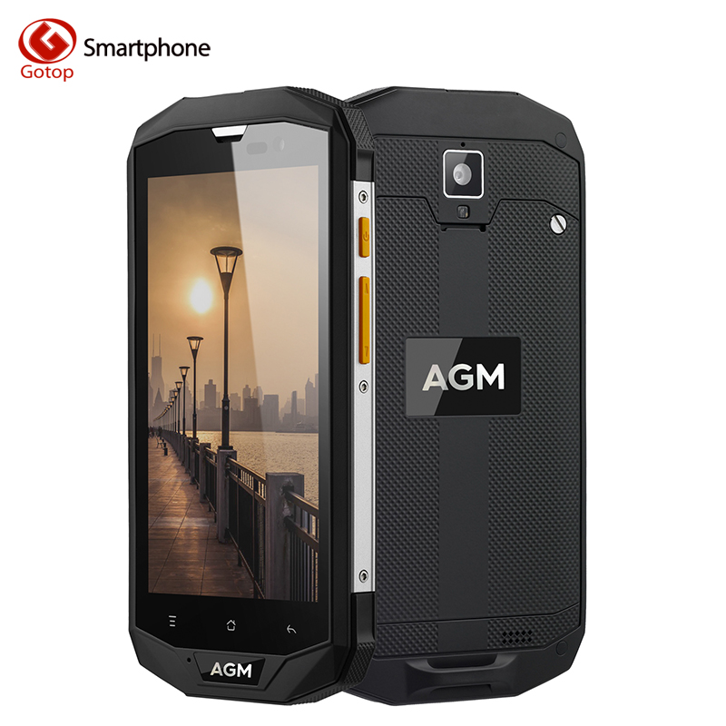 bilder für Original AGM A8 lP Wasserdichte Handy Android 7.0 MSM8916 Quad Core Smartphone 3/4 GB RAM 32/64 GB ROM 4050 mAh 4G Zelle telefon