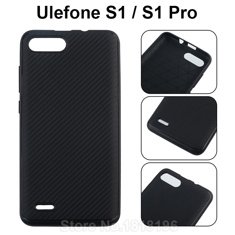For <font><b>Ulefone</b></font> <font><b>S1</b></font> <font><b>Case</b></font> Silicone Luxury Protective Black Soft TPU Back Cover For <font><b>Ulefone</b></font> <font><b>S1</b></font> Pro Mobile Phone <font><b>Case</b></font> Cover Fundas 6.3