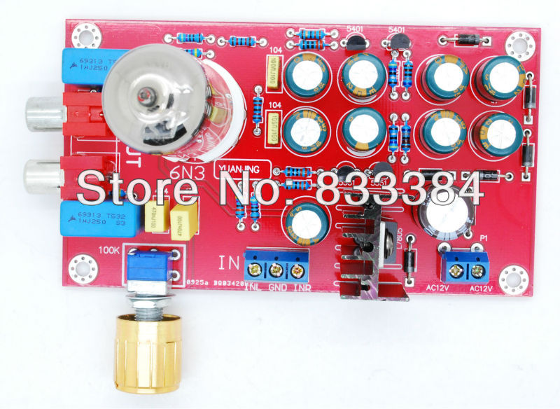 6N3 Tube Buffer Audio Preamplifier Pre-AMP Board HIFI Amplifier DIY AMP Board ne5532 stereo pre amp preamplifier tone board audio 4 channels 12 24v ac amplifier module