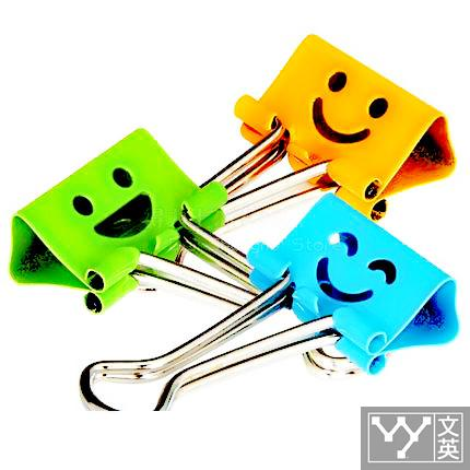 1 pack 40pcs colorful metal smile face binder clips note letter paper 19mm 3/4 4colors office school Deli 8487 new 8585 candy colorful thresher purse 19mm custom shaped stainless steel metal binder clips for papers newspapers magazine card