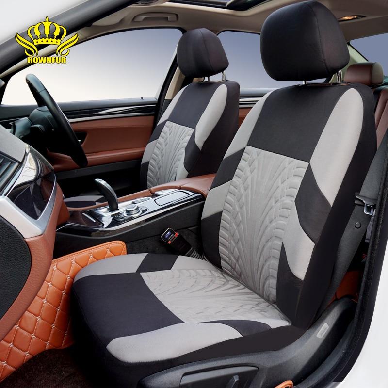 ROWNFUR cubierta de asiento de coche Universal poliéster automóviles cubre cuatro estaciones Auto accesorios asiento cubierta proteger asiento Styling
