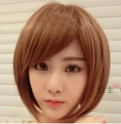 Female Wig Bobo Head Fluffy Bob Whole Student Of Anese Repair A Round Face With Short Hair On Aliexpress Alibaba Group
