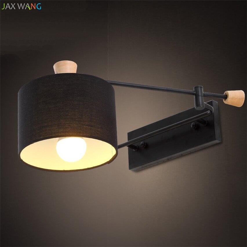 Led Lamps Brilliant Modern Led Wall Lamp Copper Loft Decor Living Room Corridor Bedside Study Wall Lamps Cloth Art Lampshade De Wall Lights For Home Lights & Lighting