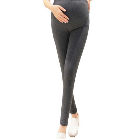 quente cintura alta calcas de gravidez