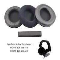 Ear pad cuscino cuffie fascia della copertura della gomma piuma per Sennheiser HD418 HD428 HD438 HD448 HD 419 429 439 449 AURICOLARE della cuffia