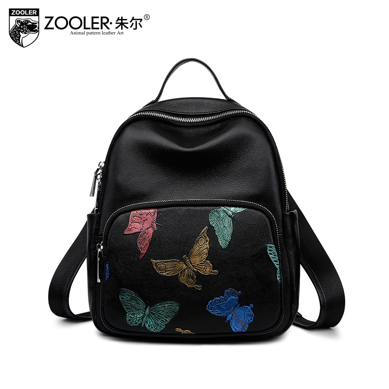 ZOOLER Women Cowhide Leather Backpack Girls School Bag For Women's Small Genuine Leather Backpacks Mochilas Feminina Sac A Dos backpack mochila feminina mochilas school bags women bag split leather backpacks travel mochilas mujer sac a dos back pack 2017