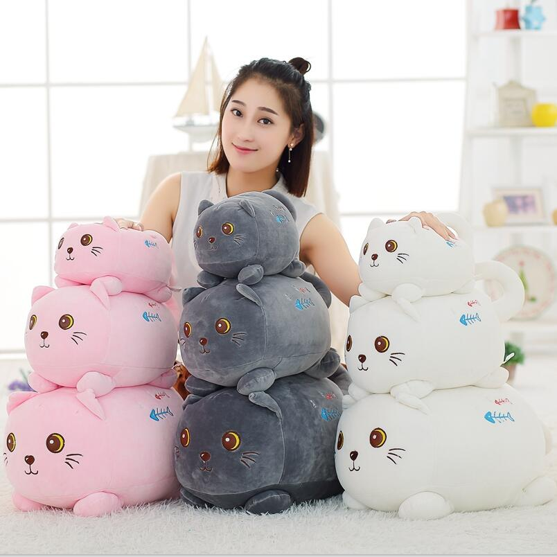 48cm super cute plush toy cat crawl down cotton pillow pillow filled the cat as a gift to the children and friends 40cm super cute plush toy panda doll pets panda panda pillow feather cotton as a gift to the children and friends