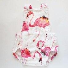 Beste Verkauf Mode Tiere Flamingo Druck Sleeveless Infant Niedlichen Sommer Weiß Baby Mädchen Kleidung Kinder Kleidung 3-18 Mt Body