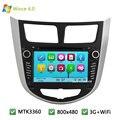 """7 """"MTK MT3360 Wince 6.0 Автомобильный DVD Video Player Радио Стерео экран GPS Для HYUNDAI Verna Accent Solaris 2011-2017 Поддержка WI-FI 3 Г"""