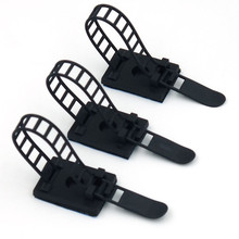 20 шт. регулируемые самоклеющиеся Кабельные ремни Кабельные стяжки зажим Кабельный органайзер для провода управление