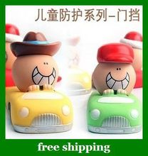 Free Shipping Cute Car Styling Door Stopper doorstop gate card Baby Safety Finger Pinch Guard Xmas