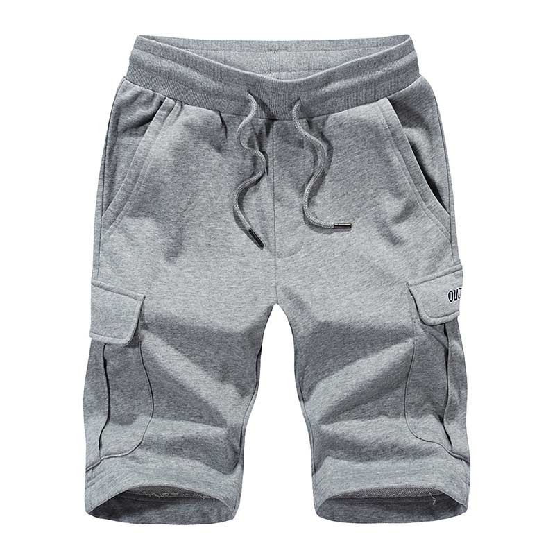 Shorts Casual Big-Size Joggers Cotton Mens Summer Exercise