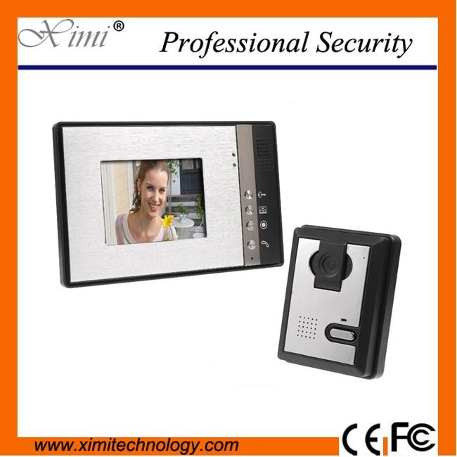 Intercom system handsfree intercom oclor touch screen with IR camera door access control video door phone system цена
