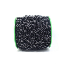 A Roll 60Meters Black Size 8MM And 3MM Bead Artificial Pearl Chain Wedding Supplies Christmas Party Prom Home Hanging Decoration