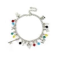 Kingdom Hearts Theme Charm Bracelet For Gift Man Women