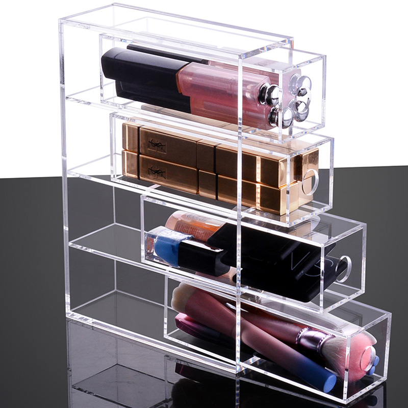 New Style Multifunctional Acrylic Makeup Organizer Jewelry Glasses Box Desktop Finishing Box