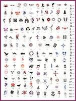 골든 피닉스 책 4 임시 에어 브러쉬 문신 스텐실 바디 아트 페인트 메이크업 화장품 100 디자인 무료 배송