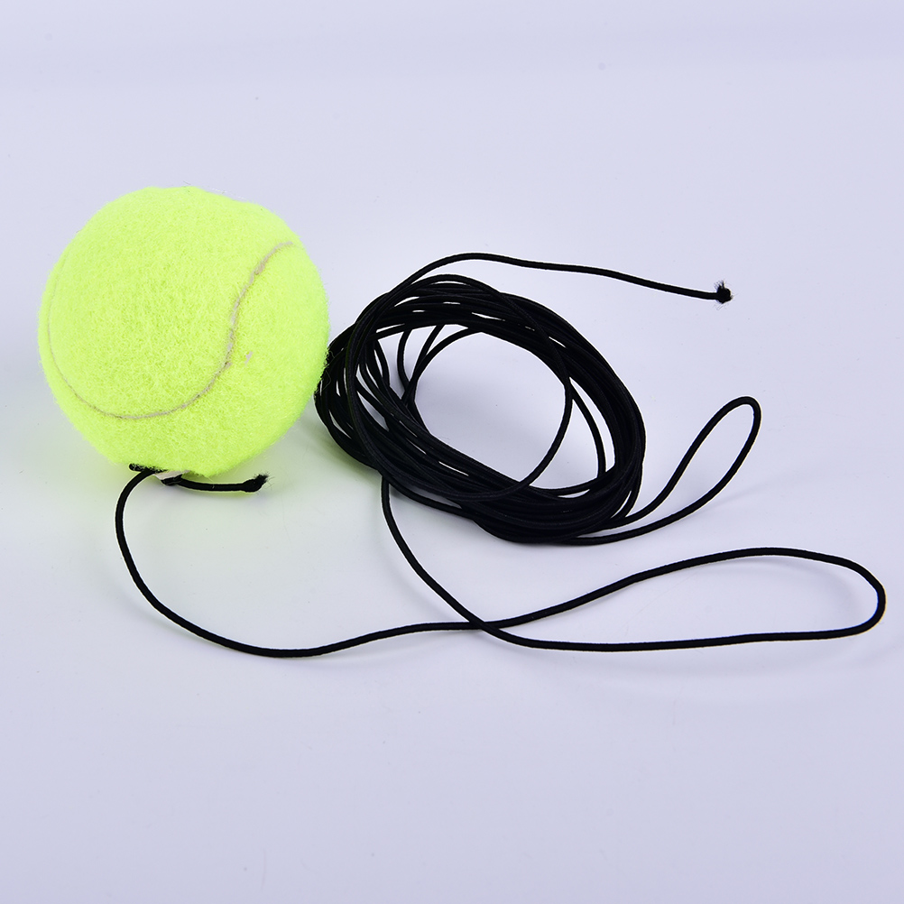 1Pc Tennis Ball Sports Tennis Training Balls Trainer Exercise Ball With Rubber Rope Trainer Train Tool