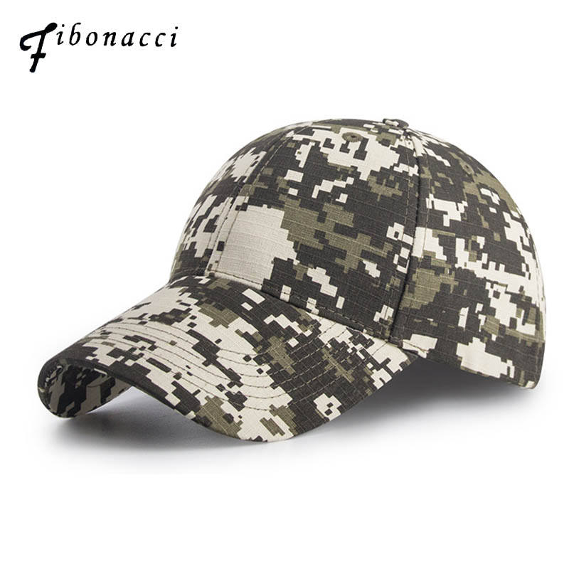 Fibonacci High Quality Camouflage Jungle Navy Seal Brand Baseball Cap Outdoor Concealment Tactical Hats Adjustable Snapback C high quality camo baseball cap men camouflage navy seal tactical cap mens hats and caps bone army snapback for adult