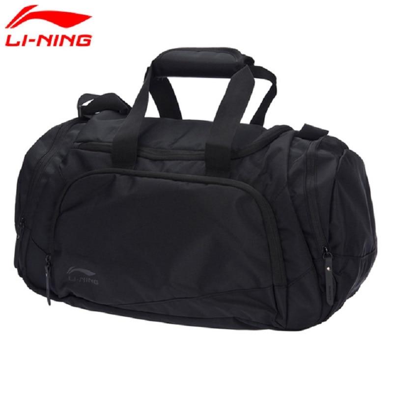 Li-Ning 2018 Unisex Training Duffel Polyester Classic Leisure Adjustable Shoulder Strap Li Ning Sports Bag ABLM028