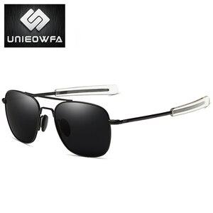 Image 3 - UNIEOWFA Männlichen Klassischen AO Sonnenbrille Männer Polarisierte Fahren UV400 Goggle Sonnenbrille Für Männer Polaroid Legierung Platz Pilot Sunglas