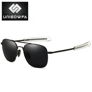 Image 3 - UNIEOWFA męskie klasyczne AO okulary mężczyźni spolaryzowane jazdy UV400 gogle okulary dla mężczyzn Polaroid Alloy plac Pilot Sunglas