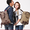 Vintage Canvas 13 14 15.6 17.3 Inch Laptop Backpack Travel Computer Notebook Backpack School Bag for Men Women 1