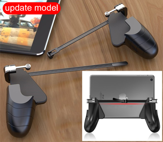 HEYNOW PC PAD gamepad 2in1 game handle holder joystick for PUBG L1/R1 Shooter Trigger Fire Button Aim Key for KnivesOut for ipad