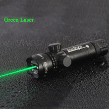 Hoge Kwaliteit Tactische 5 mw Laser Aluminium Rifle Scope Green Red Dot Laser Sight Riflescope Voor Jacht Airsoft Air Guns pistool(China)