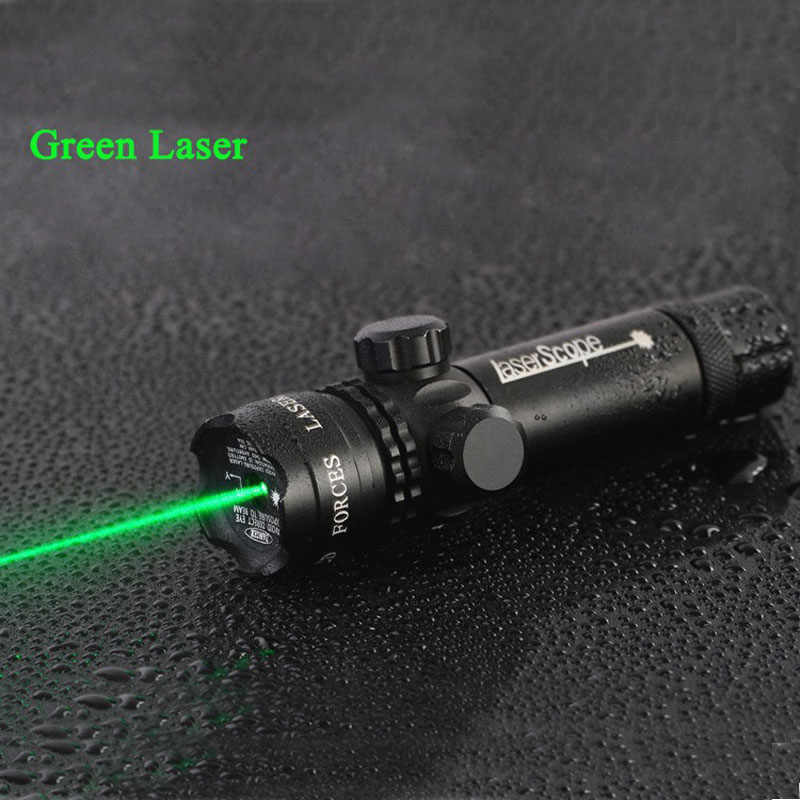 Hoge Kwaliteit Tactische 5 mw Laser Aluminium Rifle Scope Green Red Dot Laser Sight Riflescope Voor Jacht Airsoft Air Guns pistool