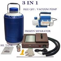 3 в 1 FS 06 жидкого азота сепаратор заморозки с 10L азота и подарок вакуумный насос машина для samsung Экран ЖК дисплей ремонт