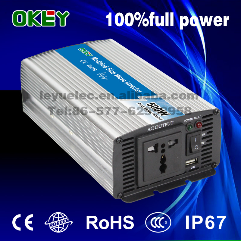 цена на inverter solar 500 watts CE RoHS approved 500w 24v to 240v modified sine wave inverter