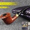 NewBee 10 Tools Set Imported Briar Wooden Tobacco Pipes Handmade Metal Loop Men Bent Smoking Pipe