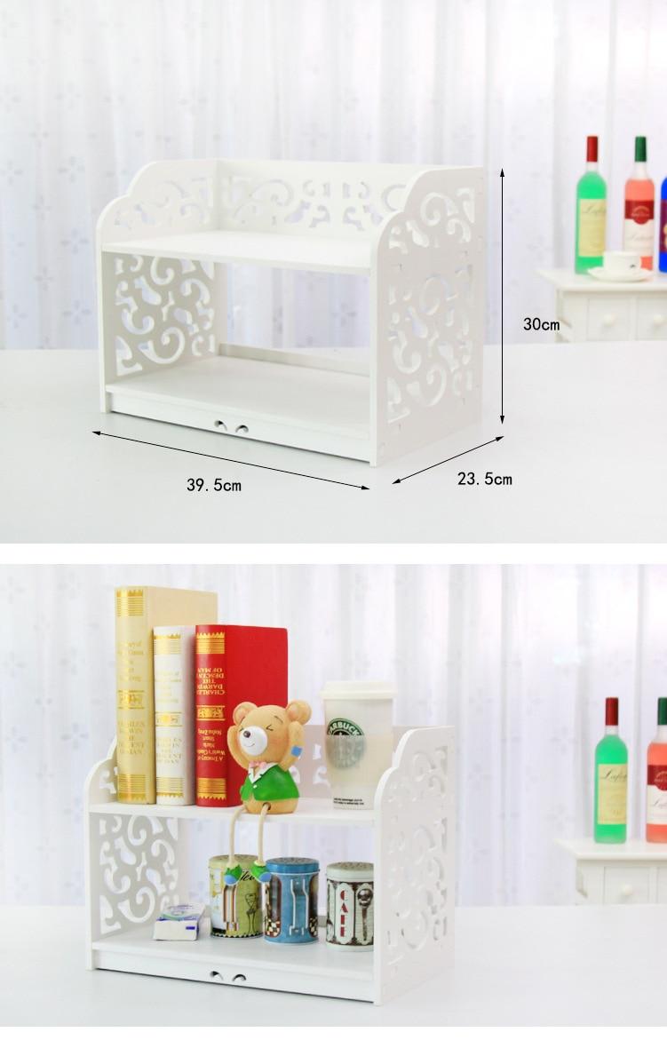 ᐂGran tamaño escritorio de madera rack de almacenamiento Marco de ...