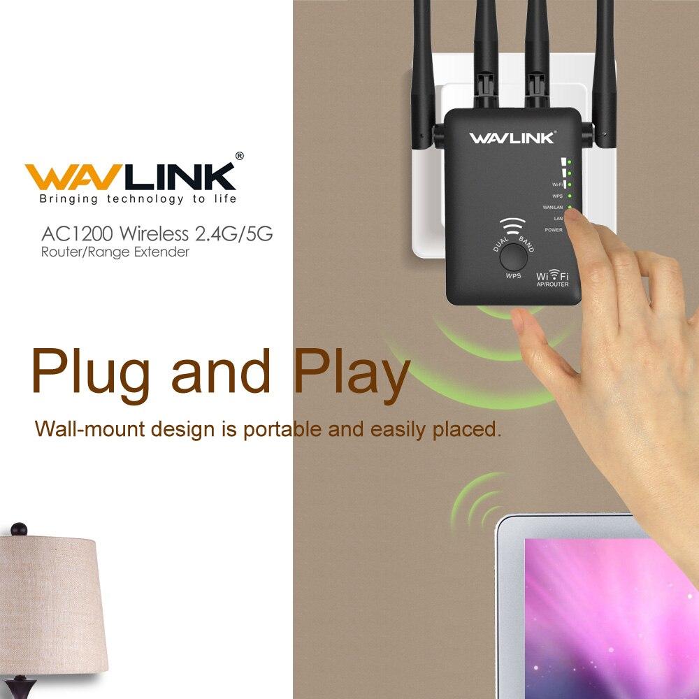 Wavlink AC1200 WiFi repetidor/Router/punto de acceso inalámbrico wi-fi Range Extender WiFi amplificador de señal con antenas externas caliente - 4