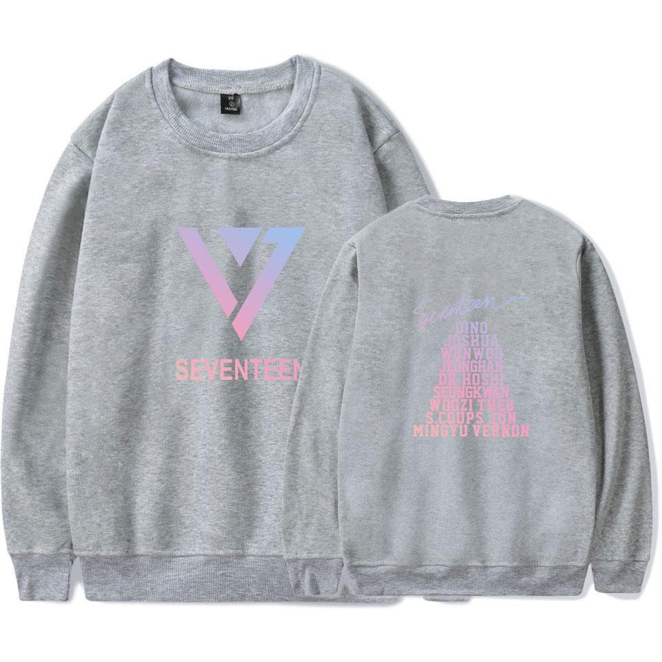 fb876500545 SEVENTEEN 17 Forever Young Korean Group Women s Sweatshirt Couples Kpop Hip  Hop Capless Sweatshirts Harajuku Album Fans Coats-in Hoodies   Sweatshirts  from ...