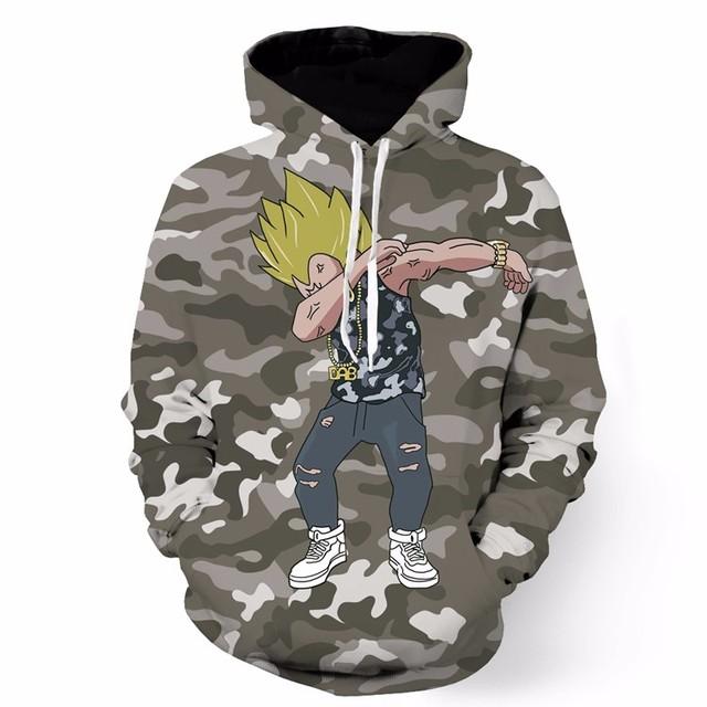 Dragon Ball Goku Naruto Print Hoodies Pullovers