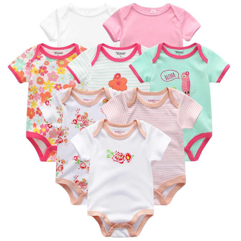 Детская одежда; 8 шт./лот; комбинезоны унисекс для новорожденных мальчиков и девочек; roupas de bebes; хлопковые комбинезоны для новорожденных