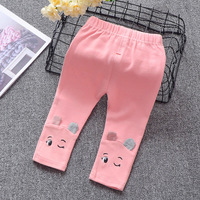 Fashion Children Autumn   Baby   Kids Girls Infants Cotton Princess Slim Leggings Cartoon Trousers Princess   Pants   Pantalones S7184