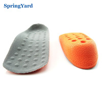 2 Size PU Form Heighten Height Increase Insoles For Men Shoes Woman Heel Half Pad
