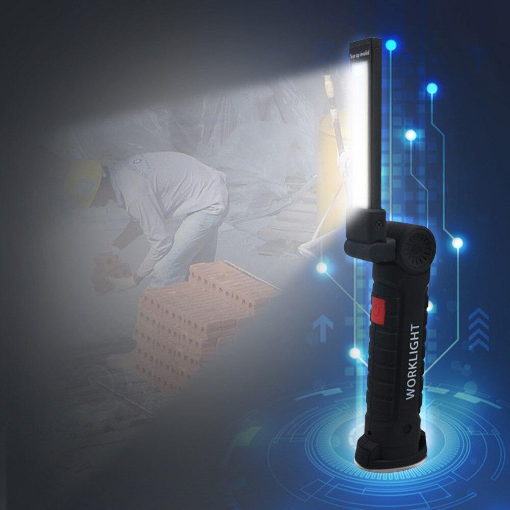 LAIDEYI COB luces de trabajo móviles de mano USB de carga luces de emergencia multifuncionales y plegables luces de trabajo LED portátiles
