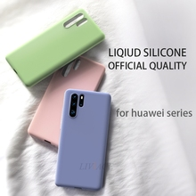 original liquid silicone phone case for huawei p30 p20 pro lite soft silicon back cover cases for huawei p10 plus p8 lite 2017 все цены