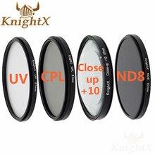 Knightx 52 мм 58 67 67 мм Окончил ND Цвет объектив FLD УФ CPL набор фильтров для Canon Nikon Sony d5300 5D 6D 7D DSLR зеркальные фотокамеры Оптические стёкла