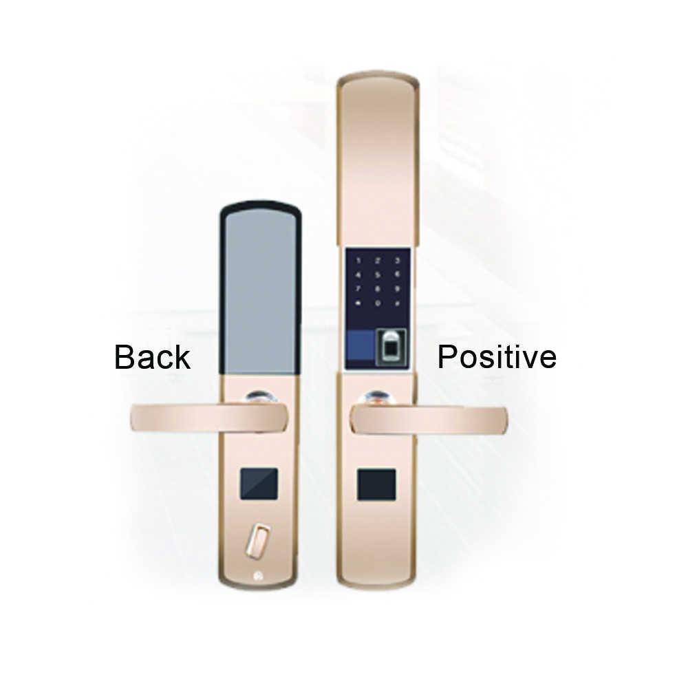 טביעת אצבע סמיקונדקטור אלקטרוני אינטליגנטי נעילת מפתח app נגד גניבת דלת באופן מלא אוטומטי + uid rfid טבעת + אחד מכונת צילום