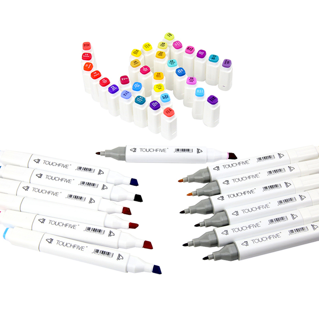 TOUCHFIVE 168 Colors Single Art Markers Brush Pen Sketch Alcohol Based Markers Dual Head Manga Drawing Pens Art Supplies 3