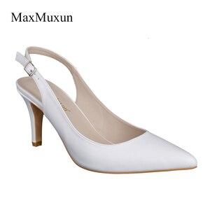 Image 4 - Maxmuxun zapatos de tacón alto con punta puntiaguda para mujer, Sandalias de tacón de aguja para fiesta de boda
