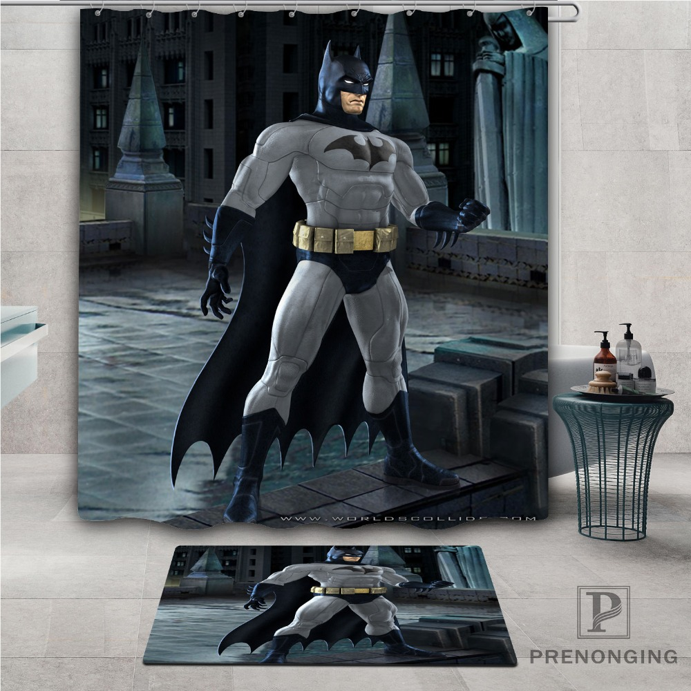 "Batman1 Waterproof Fabric Bath Shower Curtain 60/""x72/"""