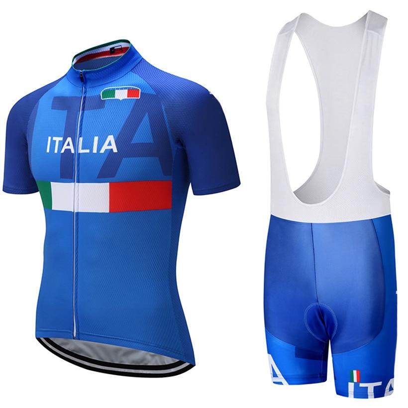 2018 ITALIA TEAM PRO radtrikot 9D pad lätzchen shorts set Ropa Ciclismo herren sommer quick dry bike shirts Trikots Culotte