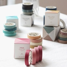 4 pcs/pack Solid Color Hand Account Paper Tape Washi Tape Adhesive Tape DIY Scrapbooking Decoration Sticker Label Masking Tape цена и фото
