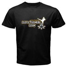 Муай Тай Бокс BUAKAW POR PRAMUK BANCHAMEK тренажерный зал Мужская черная футболка Размер S-3XL Прохладный Повседневное гордость футболка унисекс модные